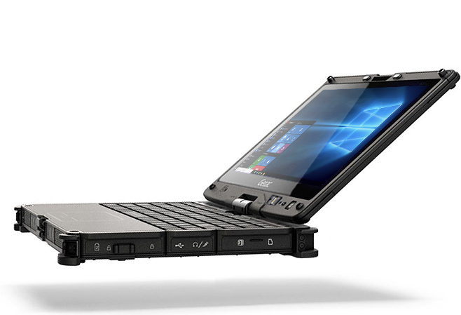 Even Faster More Secure As Thin And Versatile Ever The Getac V110 Fully Rugged Convertible Notebook Is