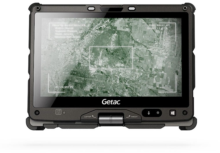 Getac V110 fully rugged convertible notebook with 3D antenna technology