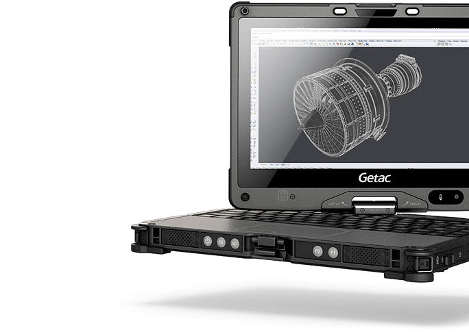 Getac V110 fully rugged convertible with Intel HD Graphics 520